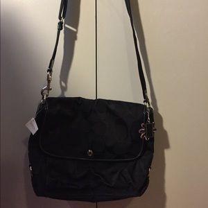 Black Coach over the shoulder bag